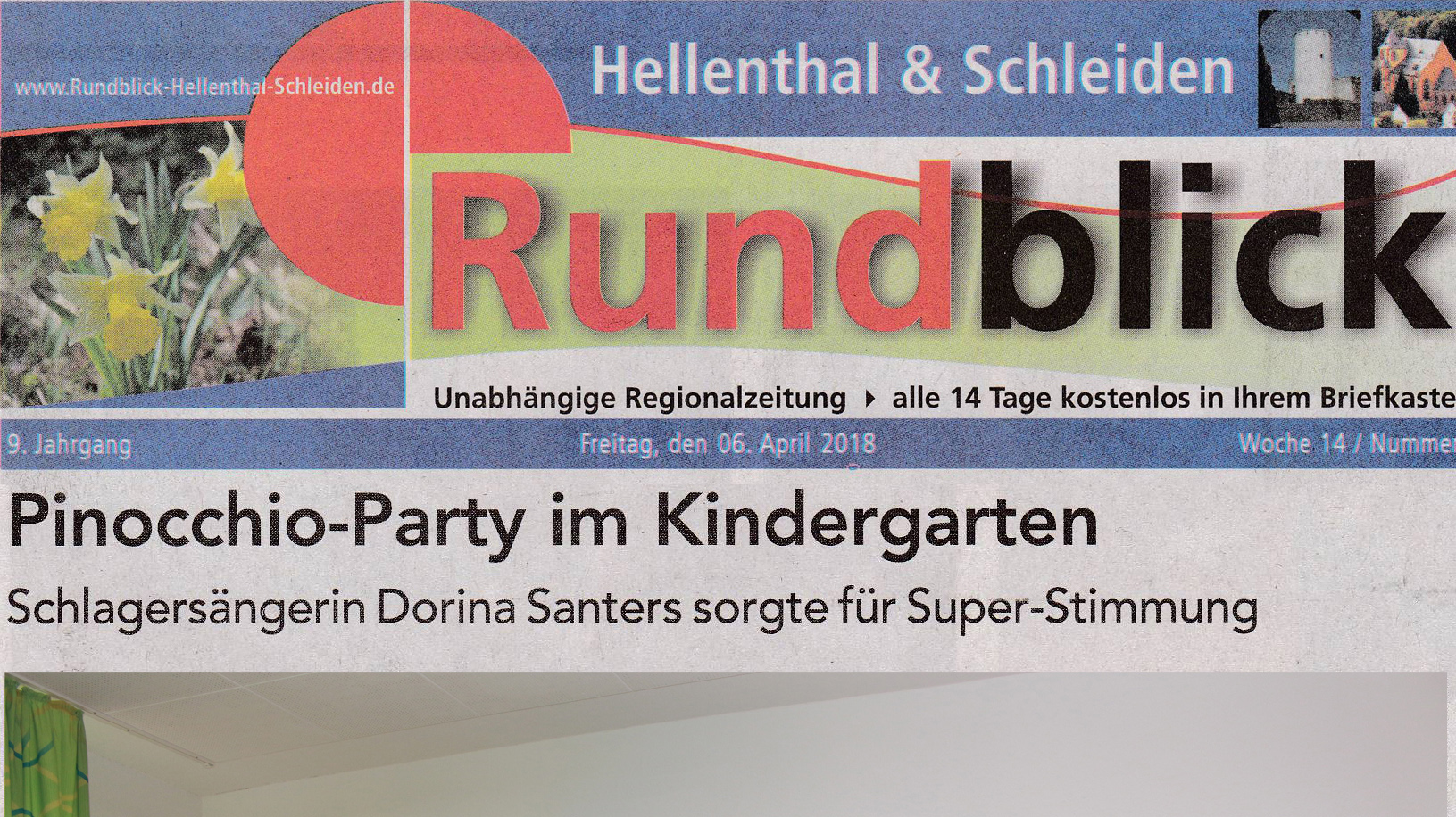 Rundblick Pinocchio-Party im Kindergarten
